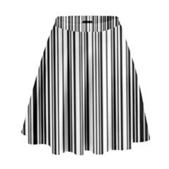 Barcode Pattern High Waist Skirt