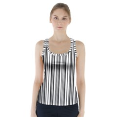 Barcode Pattern Racer Back Sports Top