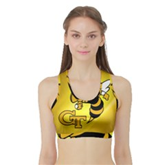 Georgia Institute Of Technology Ga Tech Sports Bra with Border
