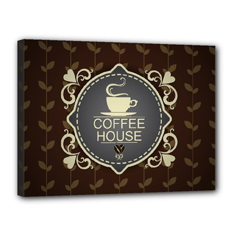 Coffee House Canvas 16  x 12