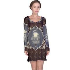 Coffee House Long Sleeve Nightdress