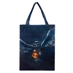 Owl And Fire Ball Classic Tote Bag