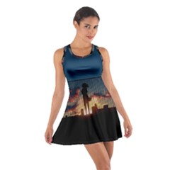 Art Sunset Anime Afternoon Cotton Racerback Dress
