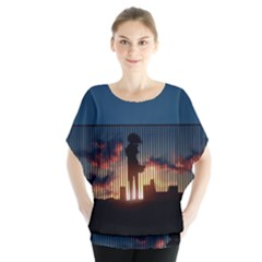 Art Sunset Anime Afternoon Blouse