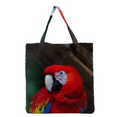 Scarlet Macaw Bird Grocery Tote Bag