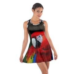 Scarlet Macaw Bird Cotton Racerback Dress