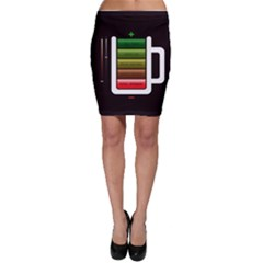 Black Energy Battery Life Bodycon Skirt