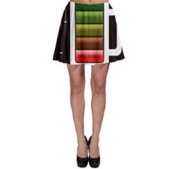 Black Energy Battery Life Skater Skirt