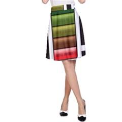 Black Energy Battery Life A-Line Skirt