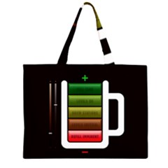 Black Energy Battery Life Large Tote Bag
