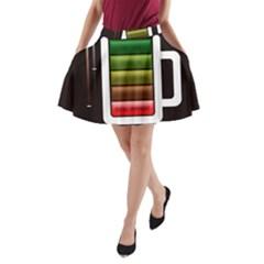 Black Energy Battery Life A-Line Pocket Skirt