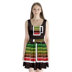 Black Energy Battery Life Split Back Mini Dress