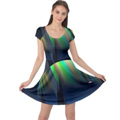 Planets In Space Stars Cap Sleeve Dresses