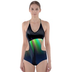 Planets In Space Stars Cut-Out One Piece Swimsuit