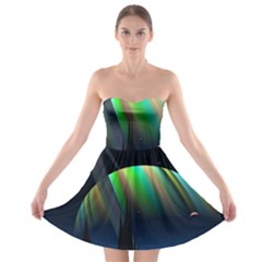 Planets In Space Stars Strapless Bra Top Dress