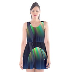 Planets In Space Stars Scoop Neck Skater Dress