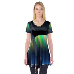Planets In Space Stars Short Sleeve Tunic
