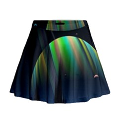 Planets In Space Stars Mini Flare Skirt