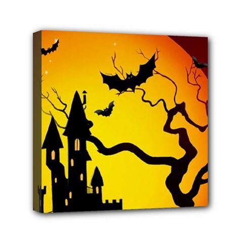 Halloween Night Terrors Mini Canvas 6  x 6