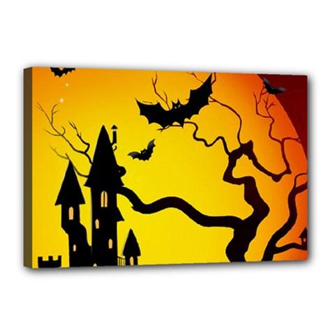Halloween Night Terrors Canvas 18  x 12