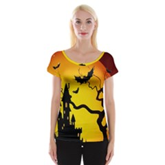 Halloween Night Terrors Women s Cap Sleeve Top