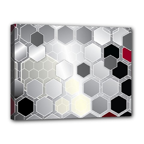 Honeycomb Pattern Canvas 16  x 12