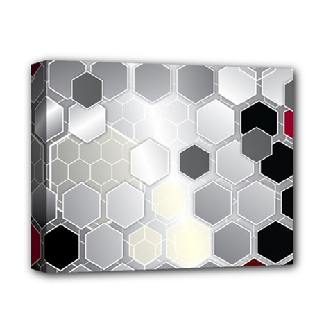 Honeycomb Pattern Deluxe Canvas 14  x 11