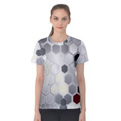 Honeycomb Pattern Women s Cotton Tee