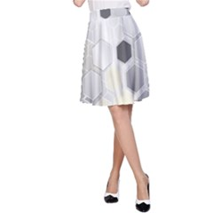 Honeycomb Pattern A-Line Skirt