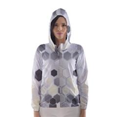 Honeycomb Pattern Hooded Wind Breaker (Women)