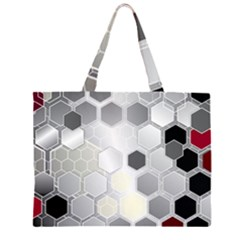 Honeycomb Pattern Large Tote Bag