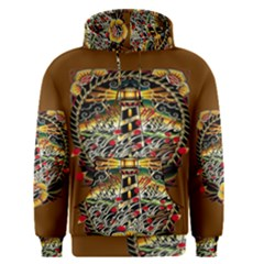Tattoo Art Print Traditional Artwork Lighthouse Wave Men s Pullover Hoodie