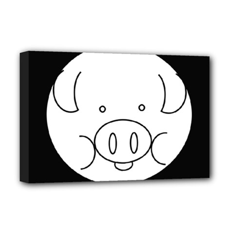 Pig Logo Deluxe Canvas 18  x 12