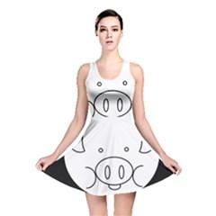 Pig Logo Reversible Skater Dress