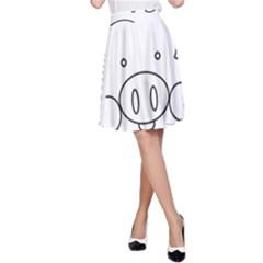 Pig Logo A-Line Skirt