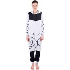 Pig Logo Hooded Jumpsuit (Ladies)
