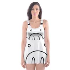 Pig Logo Skater Dress Swimsuit