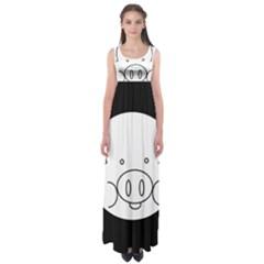 Pig Logo Empire Waist Maxi Dress