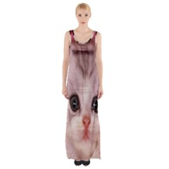 Cat Animal Kitten Pet Maxi Thigh Split Dress