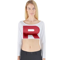 Blast Off Long Sleeve Crop Top (Tight Fit)