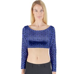 HXG1 BK-MRBL BL-BRSH (R) Long Sleeve Crop Top