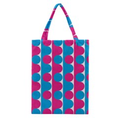 Pink And Bluedots Pattern Classic Tote Bag