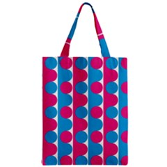 Pink And Bluedots Pattern Zipper Classic Tote Bag