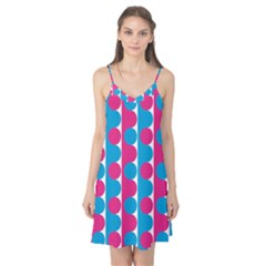 Pink And Bluedots Pattern Camis Nightgown