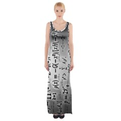 Science Formulas Maxi Thigh Split Dress