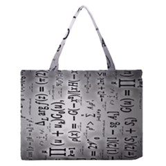 Science Formulas Medium Zipper Tote Bag