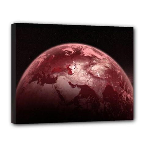 Planet Fantasy Art Canvas 14  x 11
