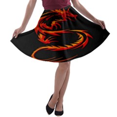 Dragon A-line Skater Skirt