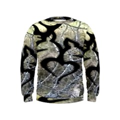 Black Love Browning Deer Camo Kids  Sweatshirt