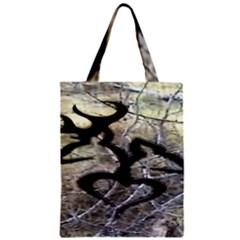 Black Love Browning Deer Camo Zipper Classic Tote Bag